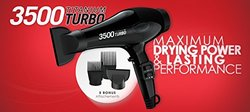 Red Pro BDPO2N500 Maximum Drying Power & Lasting Hair Dryer - Red