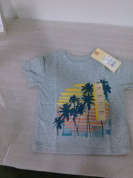 Cherokee Boy's Heather Tee Shirt - Gray - Size: 12M