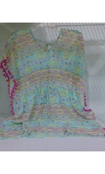 Miken Swim Girl's Beach Cover-Up - Multicolor - Size: Large