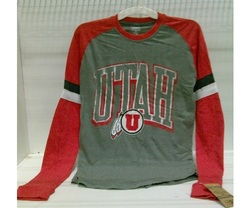 Rivalry threads 91 Men's Long Sleeve Shirt - Grey/Red - Size: S/L/XL