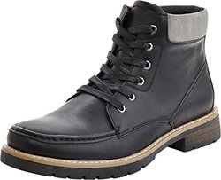 Marco Vitale Men's 42030 2-Tone Laceup Work Boot, Black, 12
