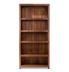 Threshold Parsons Closed 5 Shelf Bookcase - Espresso
