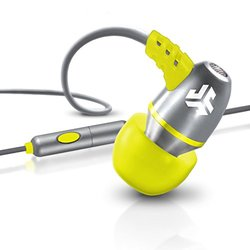 JLab Audio Metal Earbuds W/Mic - Gray/Yellow