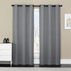 """VCNY Home Baltic Thermal Grommet Window Panel Pair - Silver - Size: 76x84"""""""