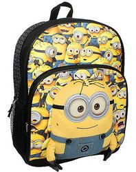 Despicable Me 3D Minion Backpack - Yellow/Black