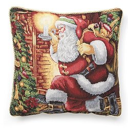 "Holiday Christmas Santa Claus Design 18"" X 18"" C. Cover"