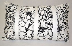 """Bar III Pleated Floral 12"""" x 20"""" Decorative Pillow"""
