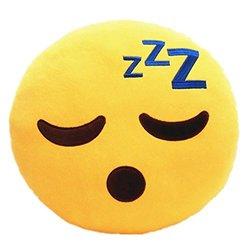 Poop Emoji Pillow Emoticon Stuffed Plush Toy Doll Smiley Cat Heart Eyes Alien Devil Kiss Face (SLEEPING )