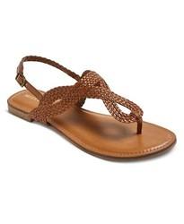Merona Women's Thong Sandals - Cognac - Size: 7.5
