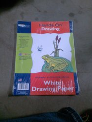 "Hands On Drawing 9x12"" White Drawing Paper - 100 Sheets"