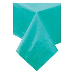 Hoffmaster 1-Ply Polylined Banquet Tablecovers - Teal - 25/ Case