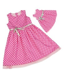 Our Generation Doll & Me Fashion Dresses - Pink Polka Dot - Size: 4