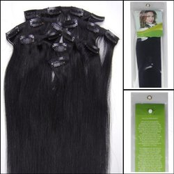 Lilu 7pc Remy Human Hair Extensions - #1 Jet Black