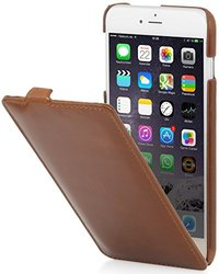 StilGut Leather Case for iPhone 6 Plus & iPhone 6s Plus - Cognac Brown