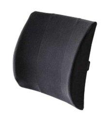 "Body Sport Lumbar Back Support Cushion - Black - Size: 13"" X 14"""
