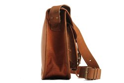 "Handolederco Women's 11"" X 9"" Genuine Leather Handbag - Brown"