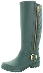 Steve Madden Northpol Women's Rain Boots: Green - Size 9