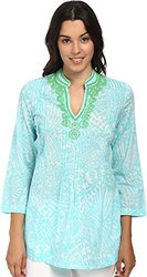 Lilly Pulitzer Women's Sarasota Tunic, Shore Blue/Sea Cups, X-Small