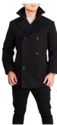 Braveman Men's Wool Blend Coats - Black - Size: Small