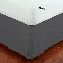 Fancy Collection California King Size Easy Care Tailored Microfiber 14-inch Bed Skirt Solid Gray