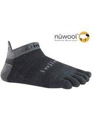 Injinji 2.0 Men's Run Lightweight Wool Socks - Charcoal - Size: Small