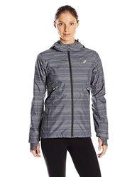 ASICS Women's Storm Shelter Jacket - Iron Gate Gray - Size: Medium