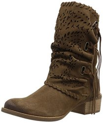 Naughty Monkey Women's Vamp Phyer Ankle Bootie, Tan, 8 M US