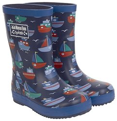 JoJo Maman Bebe Baby Boys' Patterned Wellies (Toddler) - Boat - 3 Infant