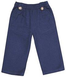 JoJo Maman Bebe Baby Boys' Linen Trousers, Navy, 18 24 Months