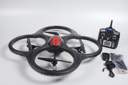Ei-Hi 2.4GHz 6.5 Channel 6 Axis Gyro LED RC Quadcopter UFO w/ Camera