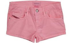 Diesel Big Girls' Prira Colored Shorts, Magenta, 16