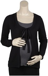 "JoJo Maman Bebe Knitted Breton ""Twinset"" - Black - Medium"