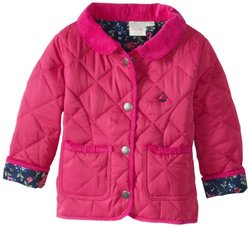 JoJo Maman Bebe Baby Girls' Quilted Jacket, Raspberry, 12 18 Months