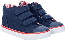 JoJo Maman Bebe Boys' Canvas Hightops (Toddler) - Navy - 9 Toddler