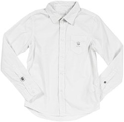 Diesel 'Cozic' Button Front Shirt (Kids) - White-X-Small