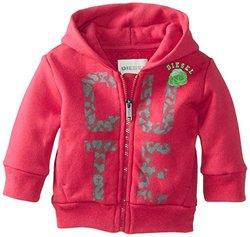 "Diesel Sufob ""Cute"" Zip Hoodie (Baby) - Fuchsia-9 Months"