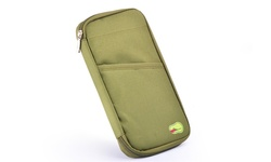 Global Phoenix Passport & Travel Document Holder - Dark Green