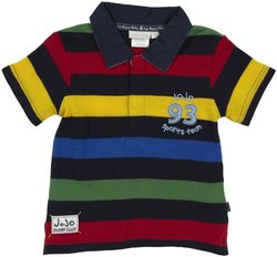 JoJo Maman Bebe Rugby Shirt (Toddler/Kid)-Multicolor-4-5 Years