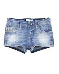 Diesel Girl's Washed Effect Denim Shorts Prira - Blue - Size: 8