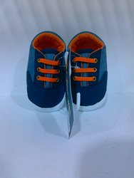 Cherokee Baby Boy Sneaker - Chambray/Navy/Orange - Size: 0-3 Months