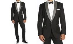 Braveman Men's Runway Tuxedo - Black - Size: 46R x 40W