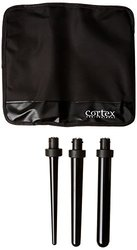 Cortex 4 in 1 Pro Ceramic Curling Iron Set with Four Ceramic - Black