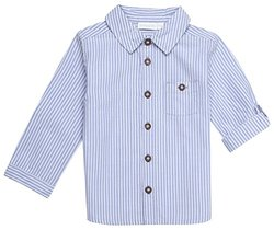 JoJo Maman Bebe Ticking Stripe (Baby)-Blue-18-24 Months