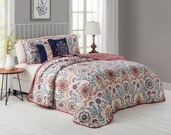 5-pc Reversible Quilt Set - Valena Multi - Size: Queen