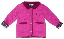 JoJo Maman Bebe Little Girls' Quilted Jacket - Raspberry - 2-3 Years
