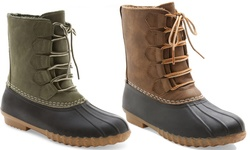 Willow Duck Boot: Green/8.5