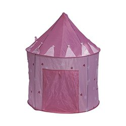 "Plixio Girl's Children Princess Castle Play Tent - Pink - Size: 51"" x 41"""