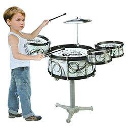 Lollipop My First Band Drum Set - Black/White