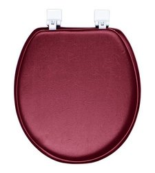 Ginsey Soft Toilet Seat - Padded for Extra Comfort - Merlot