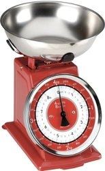 Typhoon Stainless Steel Retro Mechanical Kitchen Scale -Red